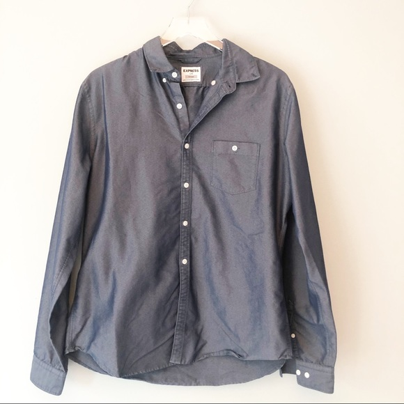 Express | Blue Chambray fitted button up